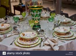 Table Setting In French Paris France French Luxury Table Setting Lorraine Terre De