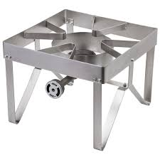 bring the convenience of stove top cooking outdoors with the backyard pro stainless steel single burner outdoor patio stove range