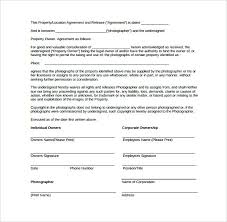 Sample Property Release Form Download Free Documents In Photography ...