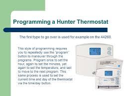 hunter thermostat wiring diagram wiring diagram programming a hunter thermostat