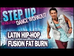 step up dance workout latin hip hop fusion cardio fat burn with bryan tanaka