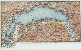 Der genfer see liegt entlang der stadt und ist einer der größten seen europas. Landkarte Karte Schweiz Genf Montreux Lac Leman Genfersee Um 1900 Wagner Debes Ebay