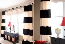 endearing big white bay window design with remarkable soft black white curtain decor even sweet red