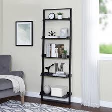 image ladder bookshelf design simple furniture. Image Ladder Bookshelf Design Simple Furniture. Exellent Mainstays 5shelf Leaning Bookcase Espresso In Furniture