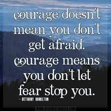 Courage Quotes Cool Courage Quotes Fear Quotes Courage Doesnt Mean You Dont Get Afraid