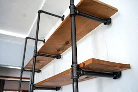 pipe shelf an easy budget friendly addition to any room steel shelves stainless steel pipe shelves
