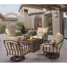 fire pit table with chairs. Cortez 5-piece Patio Conversational Seating With Firepit Table Fire Pit Chairs