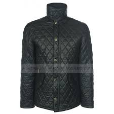 Mens Quilted Bomber Jacket | Mens Quilted Black Leather Jacket & Mens Bomber Black Quilted Leather Jacket Adamdwight.com