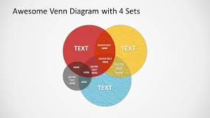 Powerpoint 2010 Venn Diagram Grunge Venn Diagram For Powerpoint Slidemodel