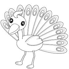 Peacock Coloring Pages Printable Animal Stockware