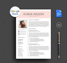 Google Doc Resume Template Modern Modern Google Docs Resume Template Download