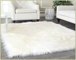 sheepskin area rug large white fur area rug