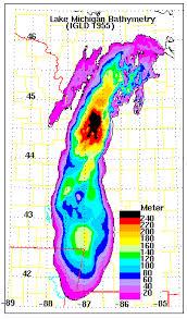 Lake Michigan Bathymetry Chart Great Lake Bathymetry