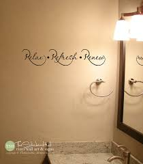on toilet wall art quotes with relax refresh renew bathroom bathroom decor home decor
