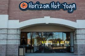 horizon hot yoga studio from the street