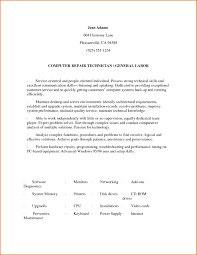 Warehouse Resume Objective Examples Resume Objective Examples General Labor RESUME 55