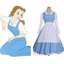 Belle Blue Dress Pattern Mesmerizing Adult Beauty And The Beast Belle Blue Maid Dress Cosplay Costume
