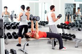 weight group group of people in sport fitness gym weight training motivators
