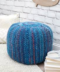Knitted Pouf Pattern New Decorating Ideas