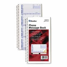 telephone message book blueline d50976 ncr telephone message book