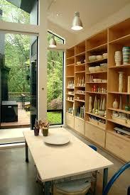art studio lighting design. Contemporary Art Studio Home Office With Pendant Lighting Vaulted Ceiling Design