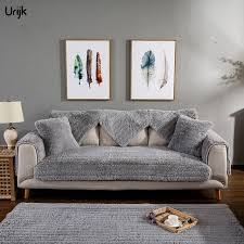 top furniture covers sofas. Urijk 1PC Winter Warm Sofa Cover Slipcover Plush Furniture Covers Sectional Couch Multi Sizes Solid Top Sofas S