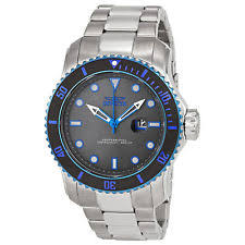 invicta men s watches stainless steel new used invicta pro diver grey dial stainless steel mens watch 15077