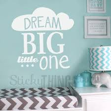 this dream big little one wall art vinyl even had a cute cloud and some stars on dream big little one wall art with dream big little one wall art vinyl stickythings za