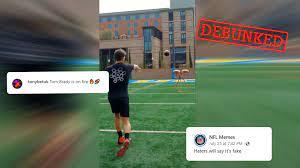 American football star Tom Brady making ...