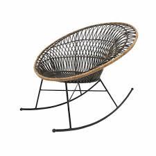 hkliving rocking chair rattan round