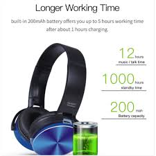 <b>450bt</b> Headset Gaming Stereo <b>Wireless</b> Bluetooth Retractable ...