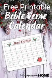 Bible Verse Advent Calendar For December Read The Christmas