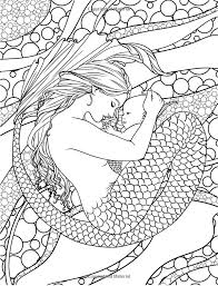 Small Picture 25 best Mermaid Adult Coloring Pages for Adults images on