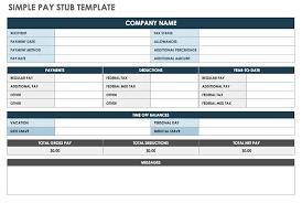 Pay Stub Templates Excel Free Pay Stub Templates Smartsheet