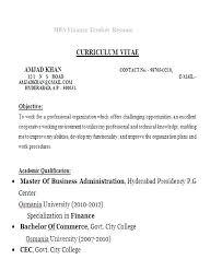Standard Resume Format Simple Resume Format For Finance Resume Format Resume Templates Resume