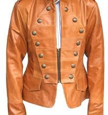 arrow handmade women military style leather jacket 8687687d