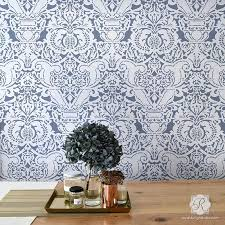large wall stencils for paintingLarge Trellis Wall Stencil  Acanthus Damask Wall Stencil for DIY