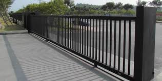 Black Metal Fence Gate Quality Steel Fence Gates For Access Control