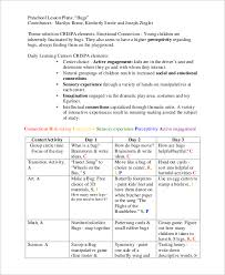 Sample Weekly Lesson Plan Extraordinary 48 Sample Preschool Lesson Plans Sample Templates