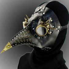us 135 steampunk pe doctor mask costume burning man gothic punk leather mask studded face bandana vintage festival edm rave outfits pindarave