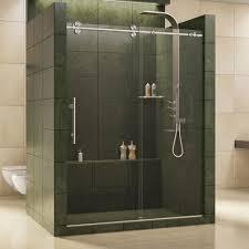 image of sliding framed shower door