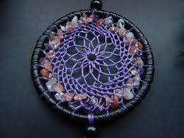 Dream Catcher With Crystals Amethyst Dream Catcher Rear View Mirror Charm Quartz Crystal 54