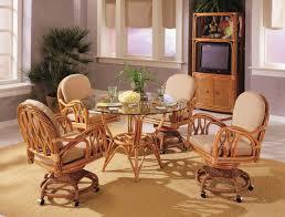 Rattan Living Room Set 3300 New Twist Rattan Swivel Tilt Caster Dining Set By South Sea