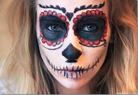 easy sugar skull makeup