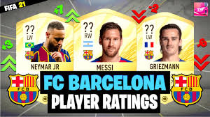 FIFA 21 | FC BARCELONA PLAYER RATINGS PREDICTIONS!! FT. MESSI, NEYMAR,  GRIEZMANN ETC.. - YouTube