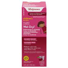 Walgreens Wal Dryl Allergy Childrens Cherry