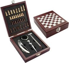 Old Wooden Board Games Buy Vintage Wooden Chess Board Game Wine Gift Set with Wine Opener 78