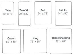Bed Chart Full Mattress Dimensions Feet Twin Size Bed Bedrooms