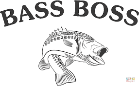 Small Picture Bass Fish coloring page Free Printable Coloring Pages