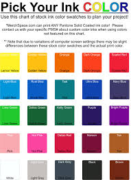 Fruit Of The Loom T Shirt Color Chart Our Products Merchspace